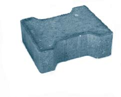 Плитка тротуарная серая «Катушка 1Ф.8ф»