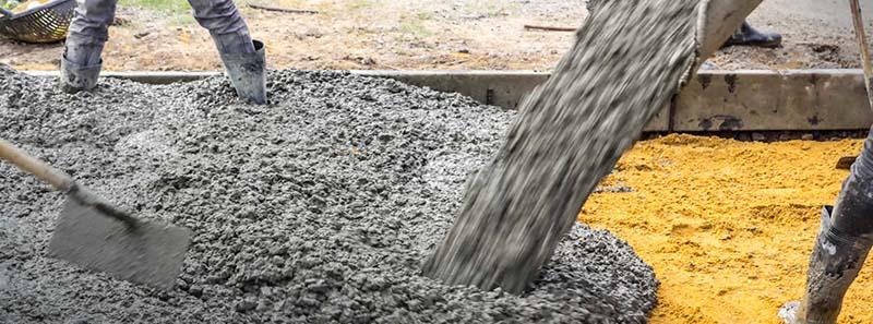 использование бетона М250