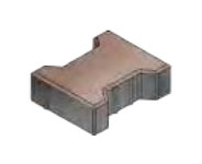 Плитка тротуарная «Катушка» 197х162х60