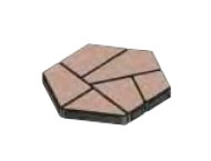 Плитка тротуарная «Полигональ» 893х780х80