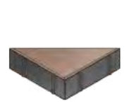 Плитка тротуарная «Треугольник» 191х191х267х60