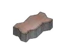 Плитка тротуарная «Зигзаг» 222х109,5х80