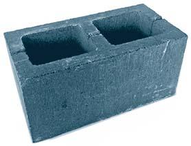 Блок стеновой двупустотный бетонный — БСМ-1