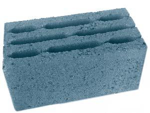 Блок стеновой восьмищелевой керамзитобетонный БСК мм