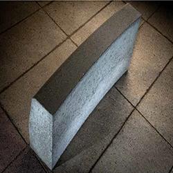Камень дорожный радиусный с фаской (выпуклый) R-500