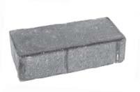 Плитка тротуарная коричневая «Брусчатка 2П.8ф» 200х100х80 мм