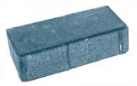 Плитка тротуарная черная «Брусчатка 2П.6ф» 200х100х60