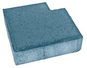 Плитка тротуарная синяя «Квадрат 1КД.6ф» 200х200х60