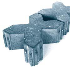 Плитка тротуарная синяя «Газонная плитка 1ЭДД.12ф» 310х260х120